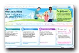 screenshot de www.pandemie-grippale.gouv.fr