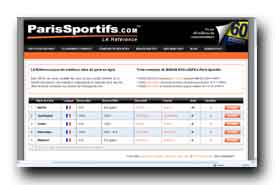 screenshot de www.parissportifs.com