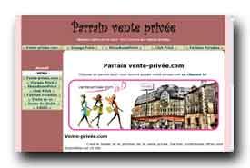 screenshot de www.parrainventeprivee.fr/vente-privee-com