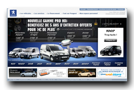 screenshot de www.peugeot.fr