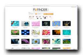 screenshot de www.pixfinder.net