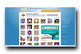 screenshot de www.pixiz.com
