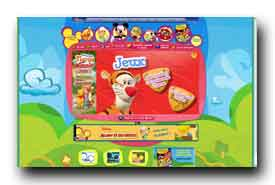 screenshot de www2.disney.fr/DisneyChannel/playhouse/index.htm