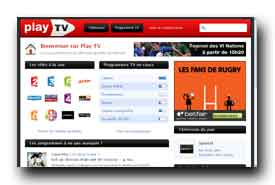 screenshot de www.playtv.fr