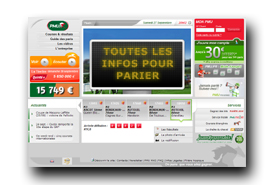 screenshot de www.pmu.fr