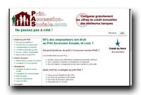screenshot de www.pret-accession-sociale.com