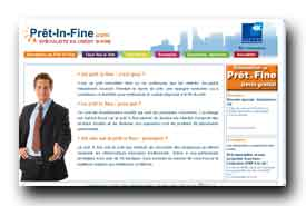 screenshot de www.pret-in-fine.com
