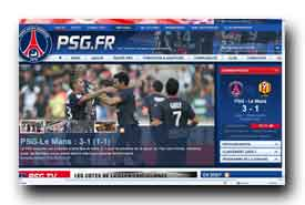 screenshot de www.psg.fr