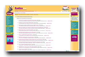 screenshot de www.radins.com