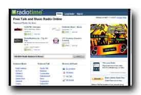 screenshot de www.radiotime.com