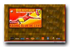 screenshot de www.rclens.fr/site/