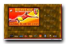 screenshot de www.rclens.fr/site/