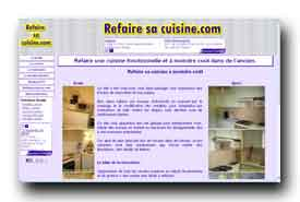 screenshot de www.refairesacuisine.com