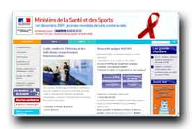 screenshot de www.sante-sports.gouv.fr