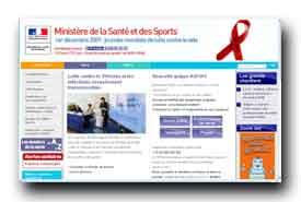 screenshot de www.sante-sports.gouv.fr