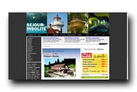 screenshot de www.sejour-insolite.com