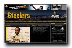 screenshot de www.steelers.com