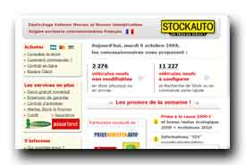screenshot de www.stockauto.com