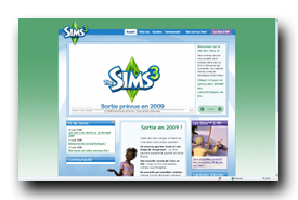 screenshot de www.thesims3.ea.com
