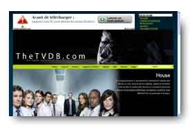screenshot de www.thetvdb.com