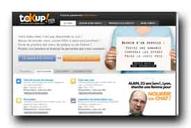 screenshot de www.tokup.fr