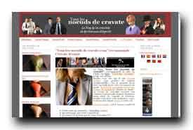 screenshot de www.tous-les-noeuds-de-cravate.com