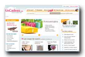 screenshot de www.uncadeau.com