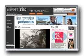 screenshot de www.universcine.com