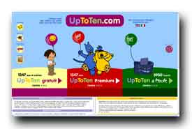 screenshot de www.uptoten.com