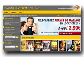screenshot de www.warnervideolive.com