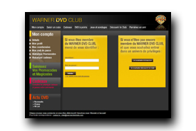 screenshot de www.warnerdvdclub.com