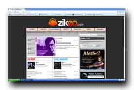 screenshot de www.zikeo.com