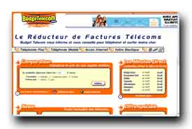 screenshot de www.budgetelecom.com