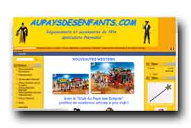 screenshot de www.aupaysdesenfants.com