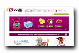 screenshot de www.cvous.com