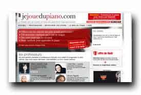 screenshot de www.jejouedupiano.com