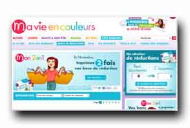 screenshot de www.mavieencouleurs.fr/bons-de-reduction