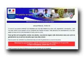 screenshot de www.pre-plainte-en-ligne.gouv.fr