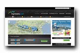 screenshot de www.pyrenees.com