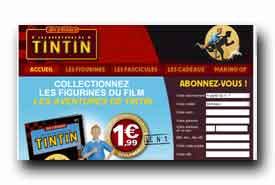 screenshot de www.jeuechecs-tintinlefilm..com
