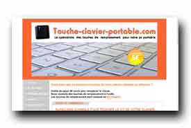 screenshot de www.touche-clavier-portable.com