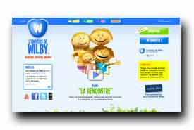 screenshot de www.wilby.tv/visite