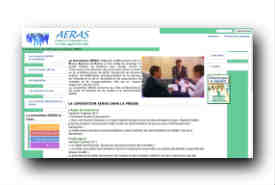 screenshot de www.aeras-infos.fr