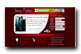 screenshot de harrypotter.cineconcours.fr