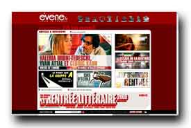 screenshot de www.evene.fr