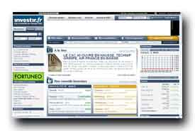screenshot de www.investir.fr