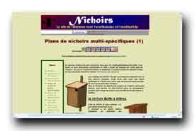 screenshot de www.nichoirs.net