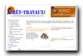 screenshot de www.pret-travaux.com/
