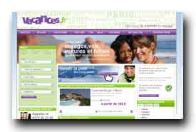 screenshot de www.vacances.fr