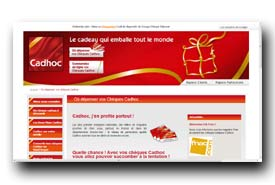 Www Cheque Cadhoc Com Depenser Cheque Cadeau Cadhoc Html Sites A
